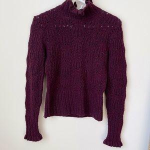 Ralph Lauren black label burgundy sweater size S